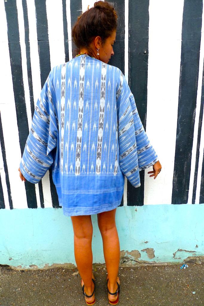 blue vintage cotton kimono