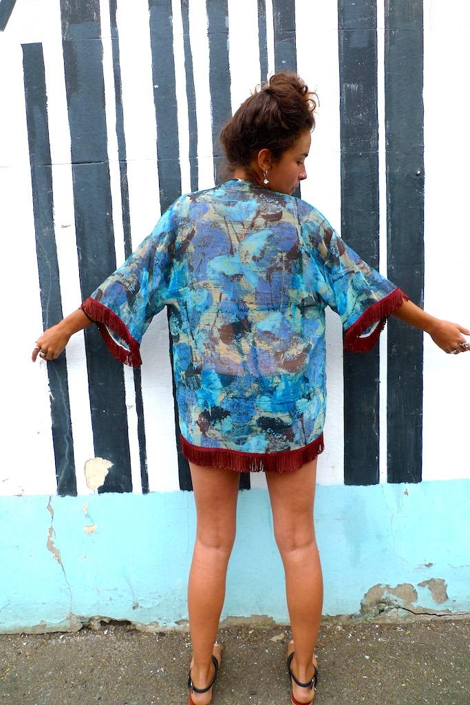 upcycled summer kimono