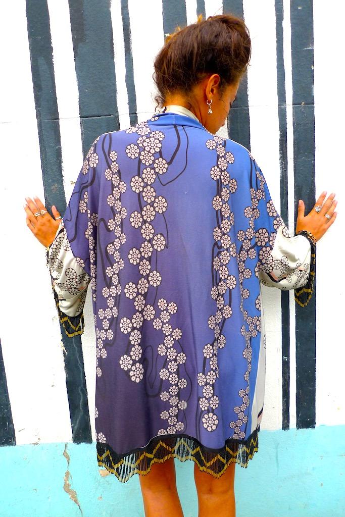 beaded japanese flower kimono