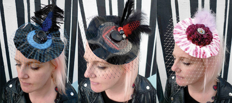 recycled record fascinator