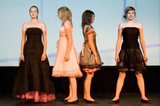 eco fashion show dresses