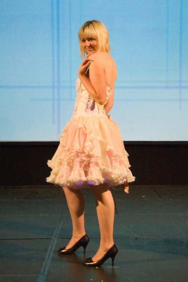 eco fashion show dress