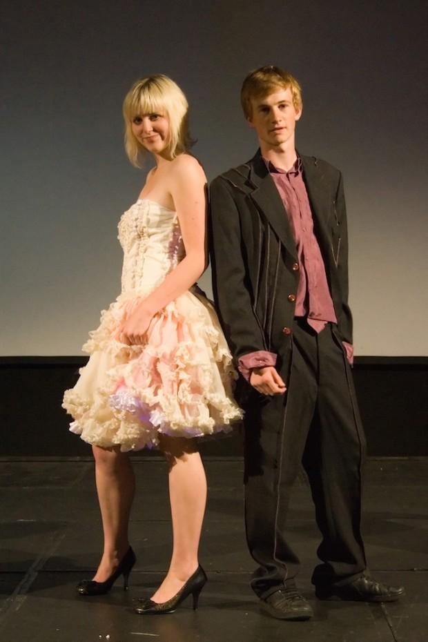 eco fashion show dress suit