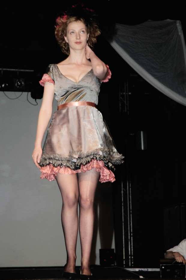 brighton fashion week catwalk show leftover dress