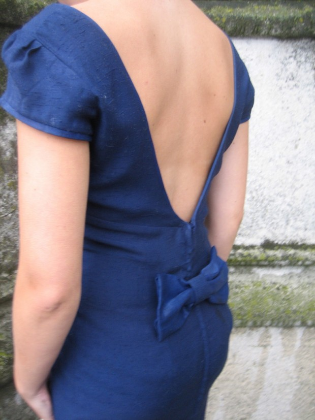 made to order blue bow dress