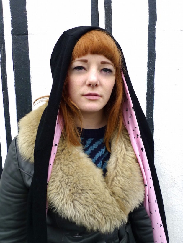 upcycled hood hat wool