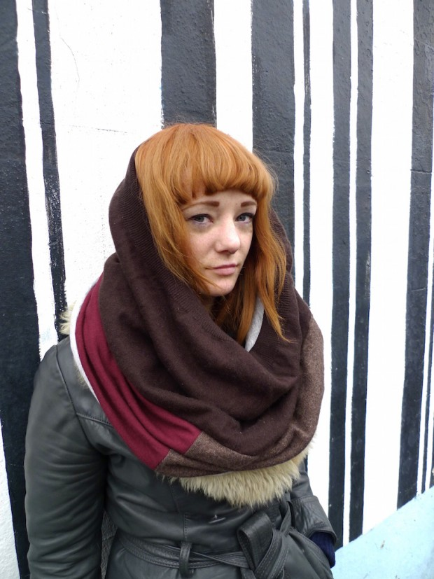 upcycled snood wool