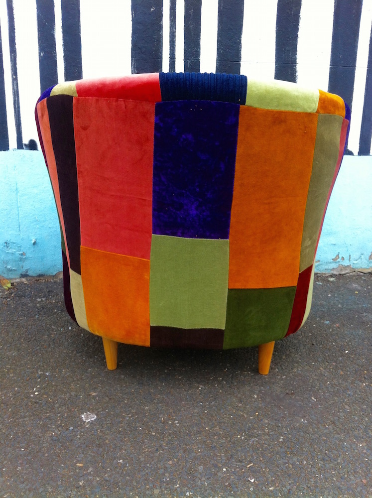 patchwork armchair upholstery service brighton