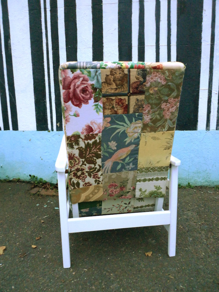 Patchwork patio chairs