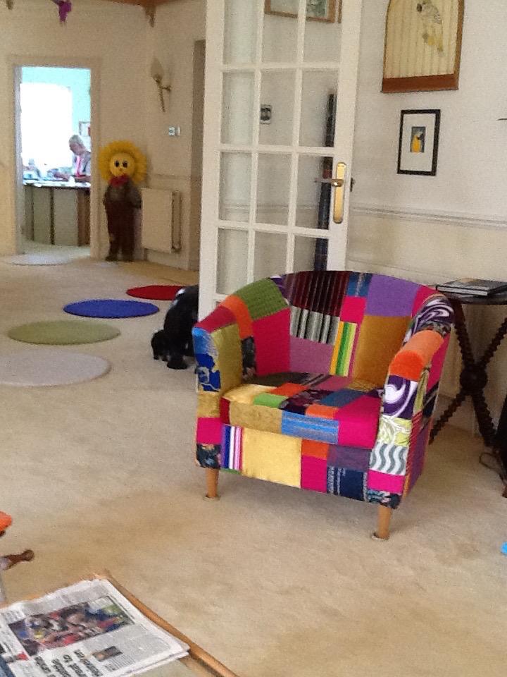 patchwork-armchair tubchair