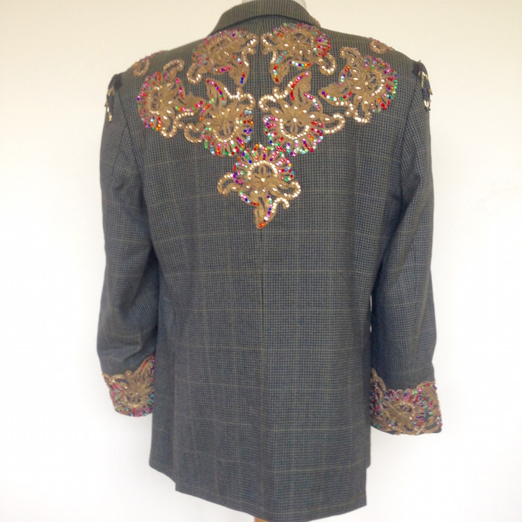embellished mens suit jacket