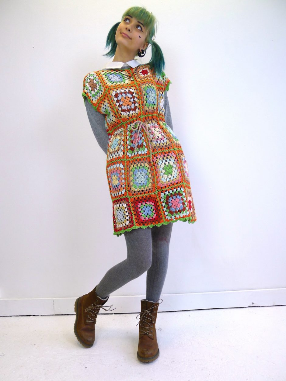 Crochet Patchwork Dress