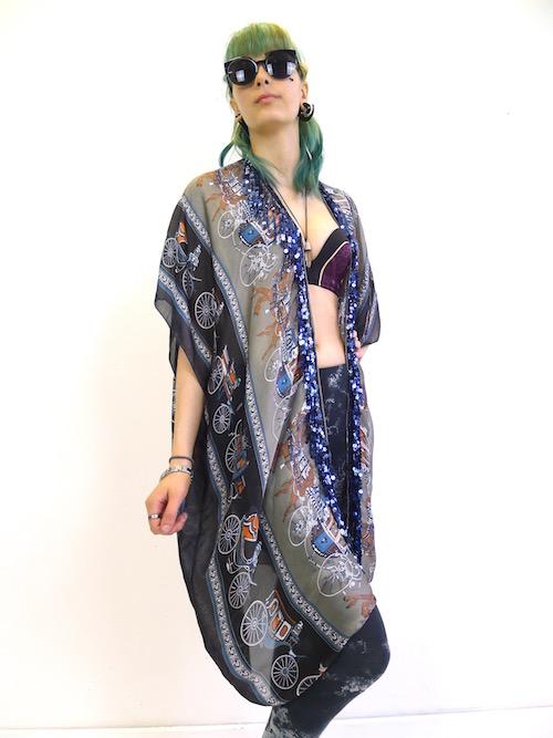 Hermes Silk Scarf Kimono