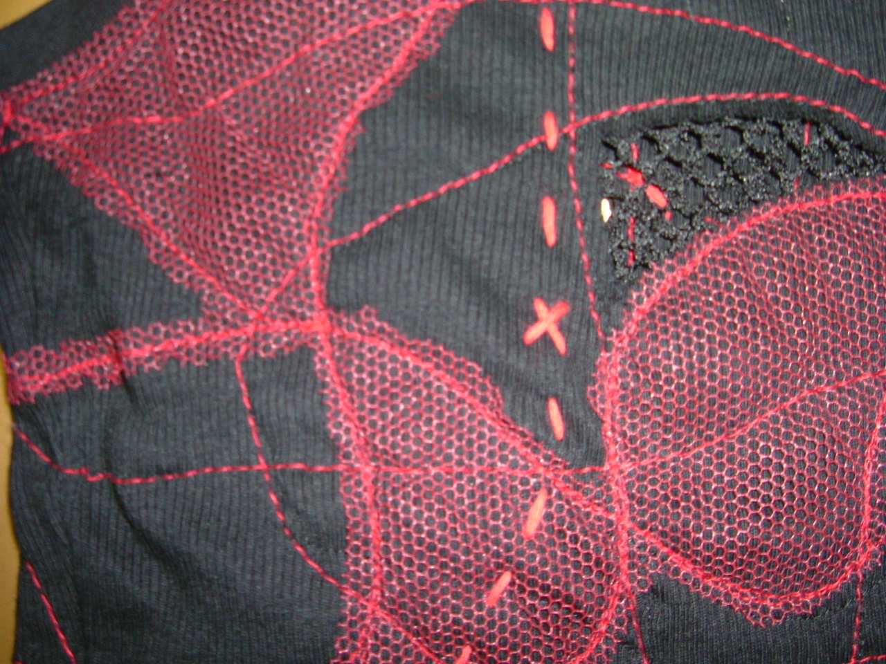 layered stitching applique