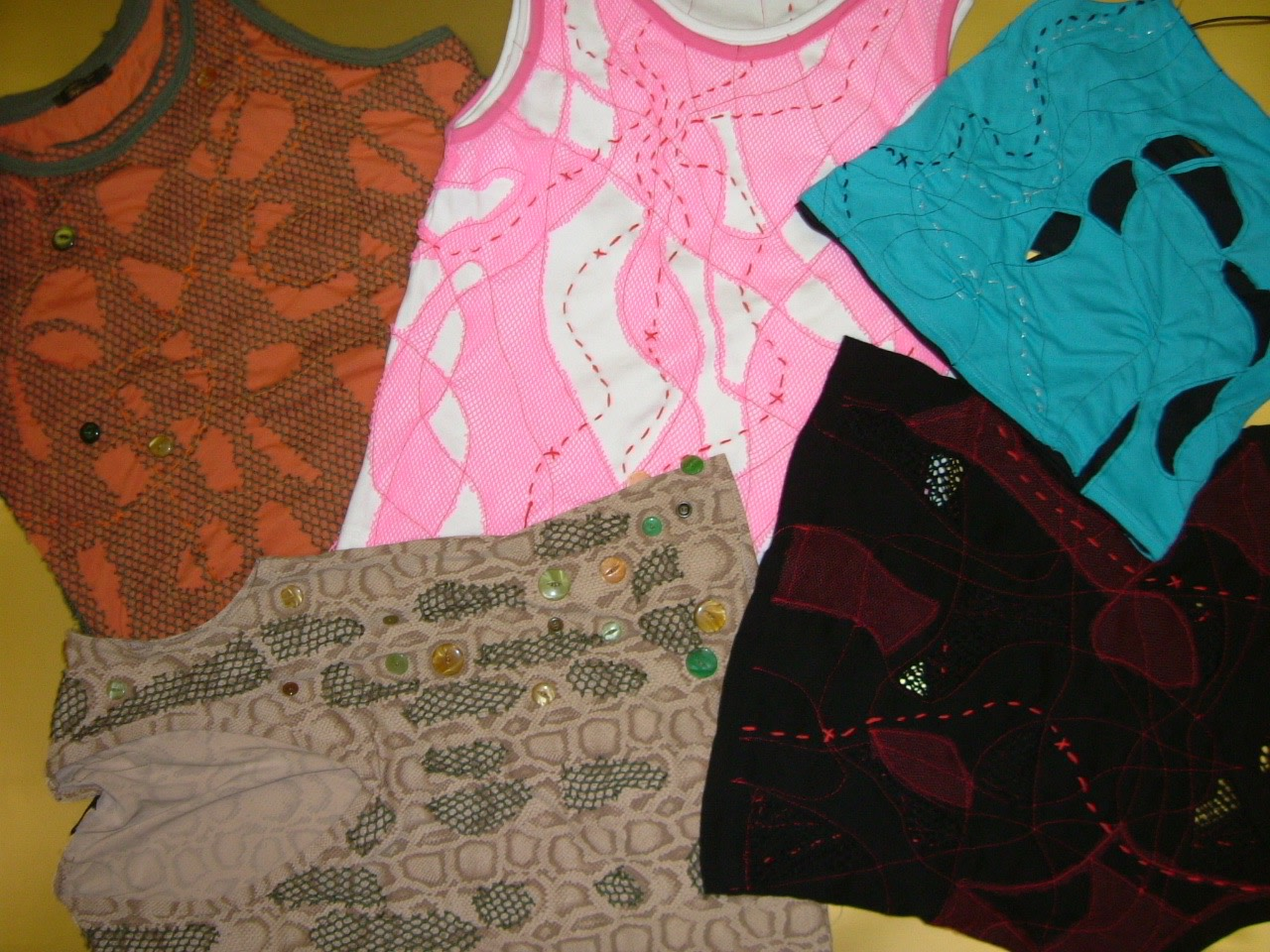 Experimental Applique Tops