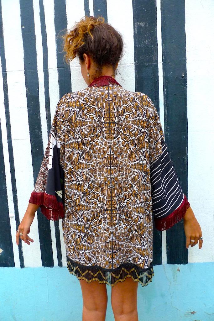 luxury print kimono