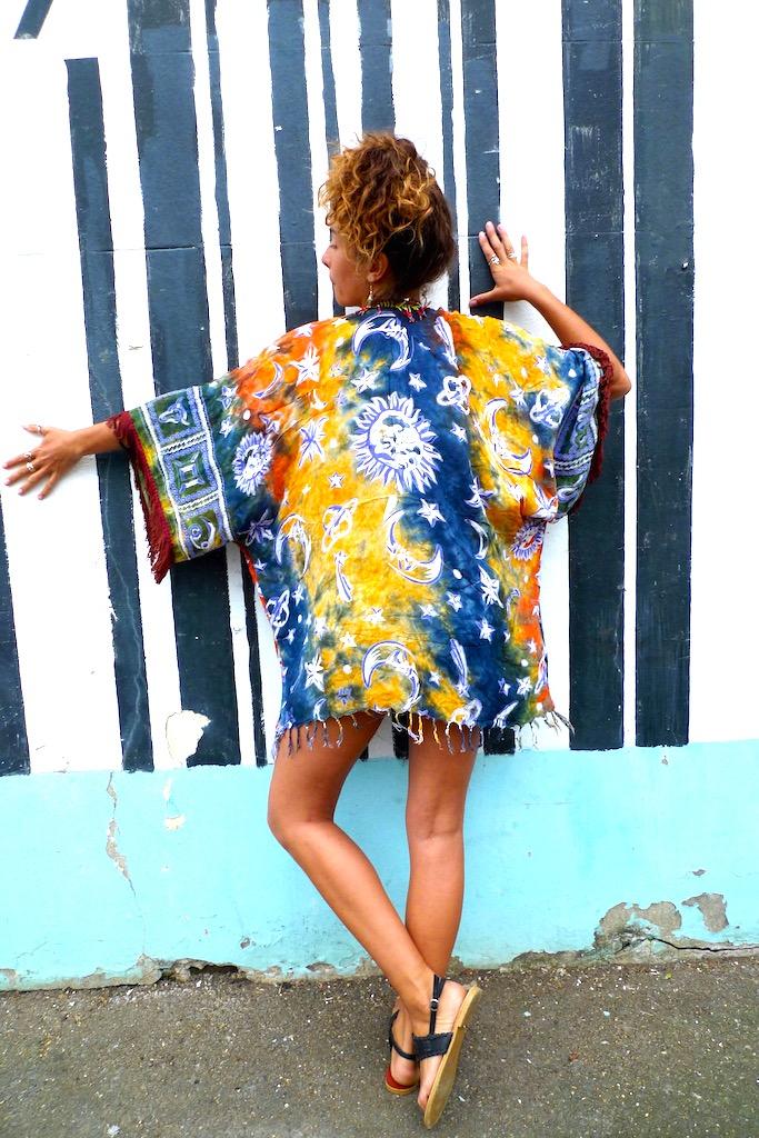 upcycled sarong kimono