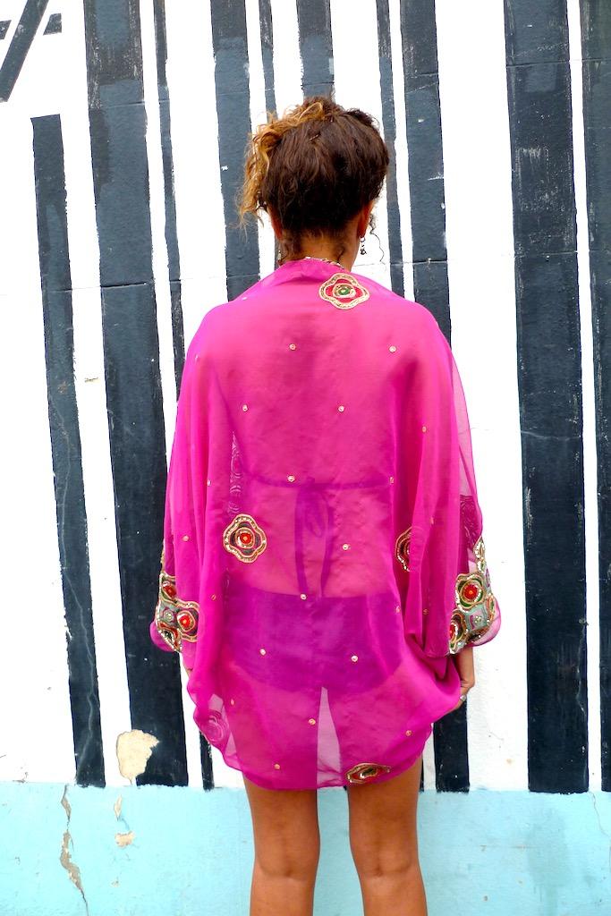 sequin kimono