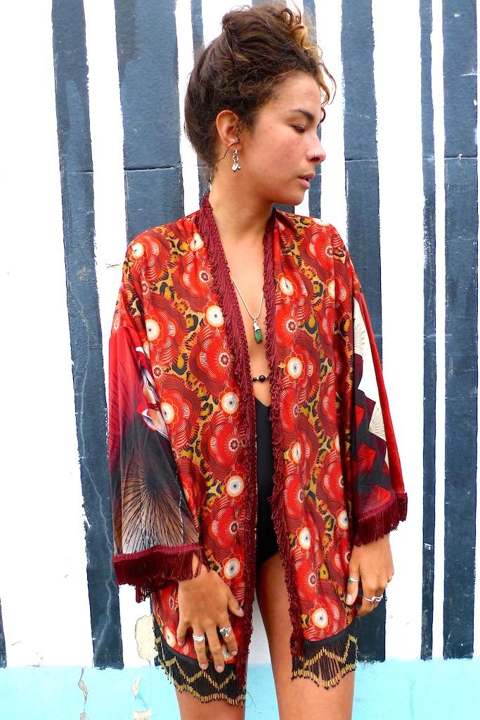 tassle one off kimono