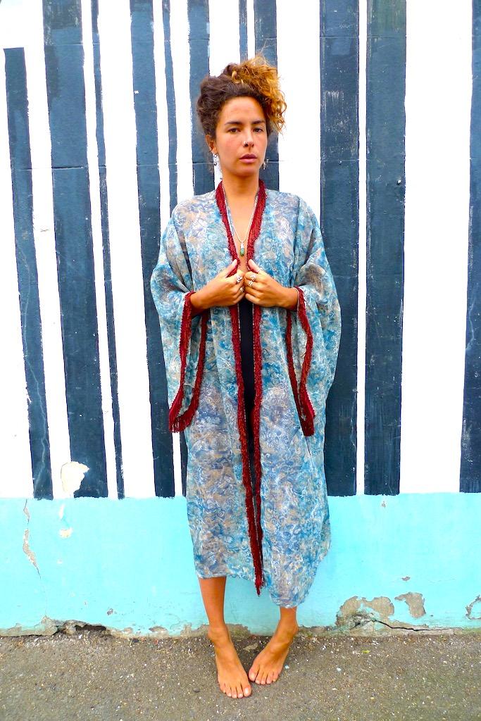 one off upcycled summer kimono