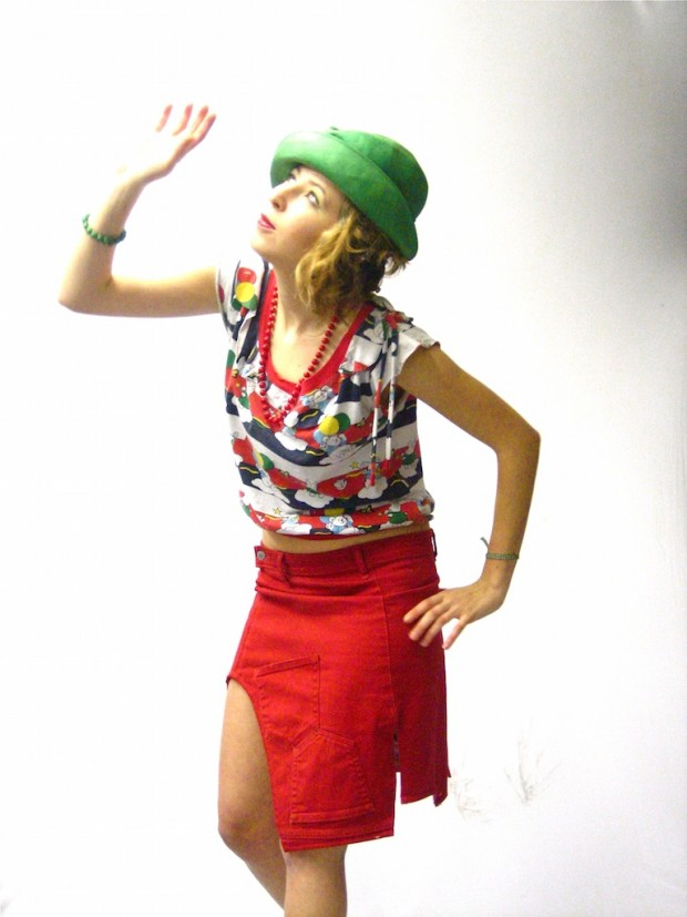 customised eco fashion skirt top