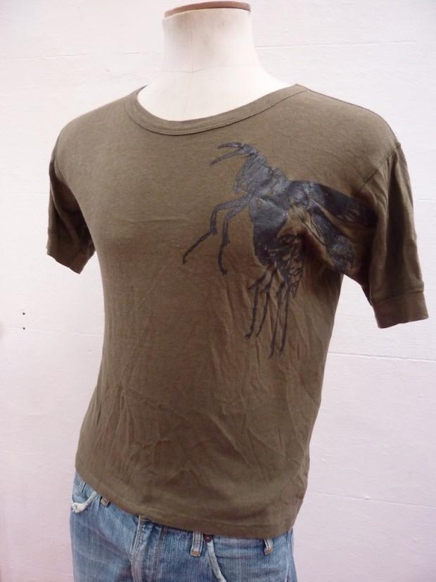 beetle screen print eco t-shirt