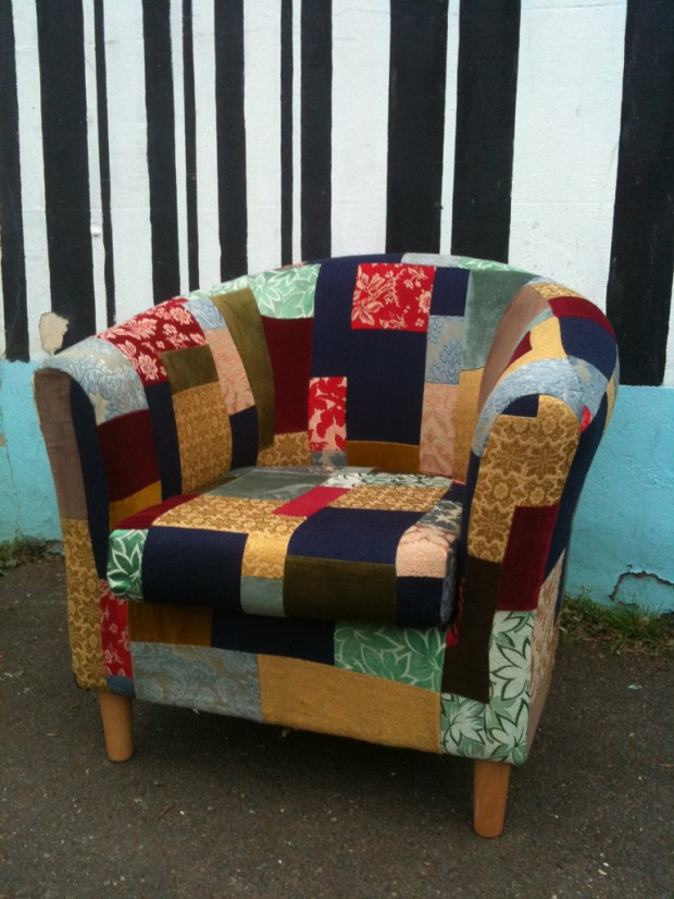 tub chair patchwork eco