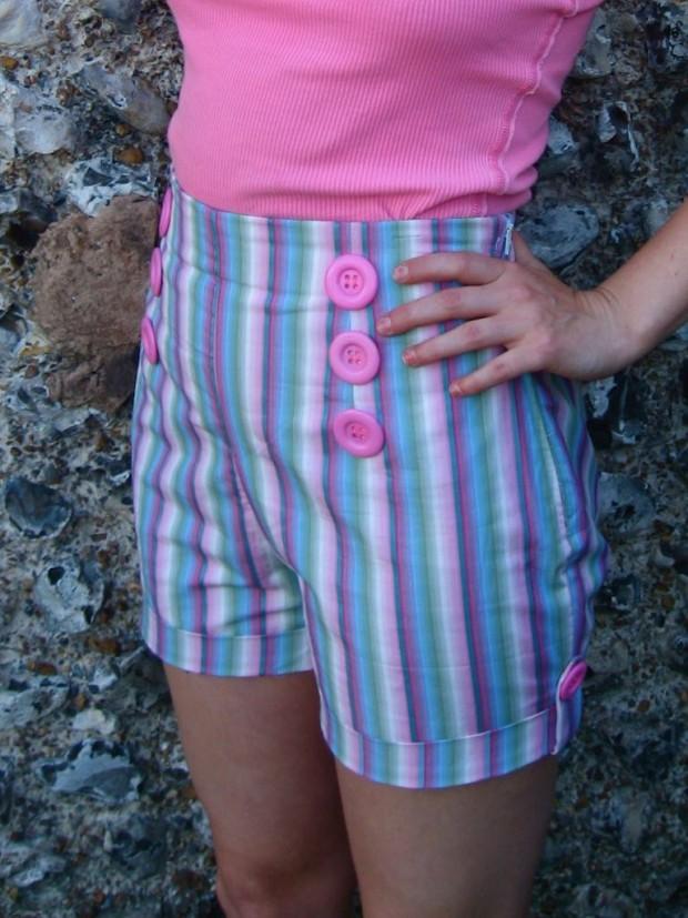 pinstripe eco shorts