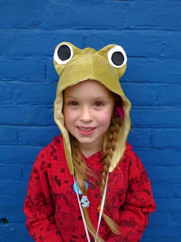 velour velvet frog hood