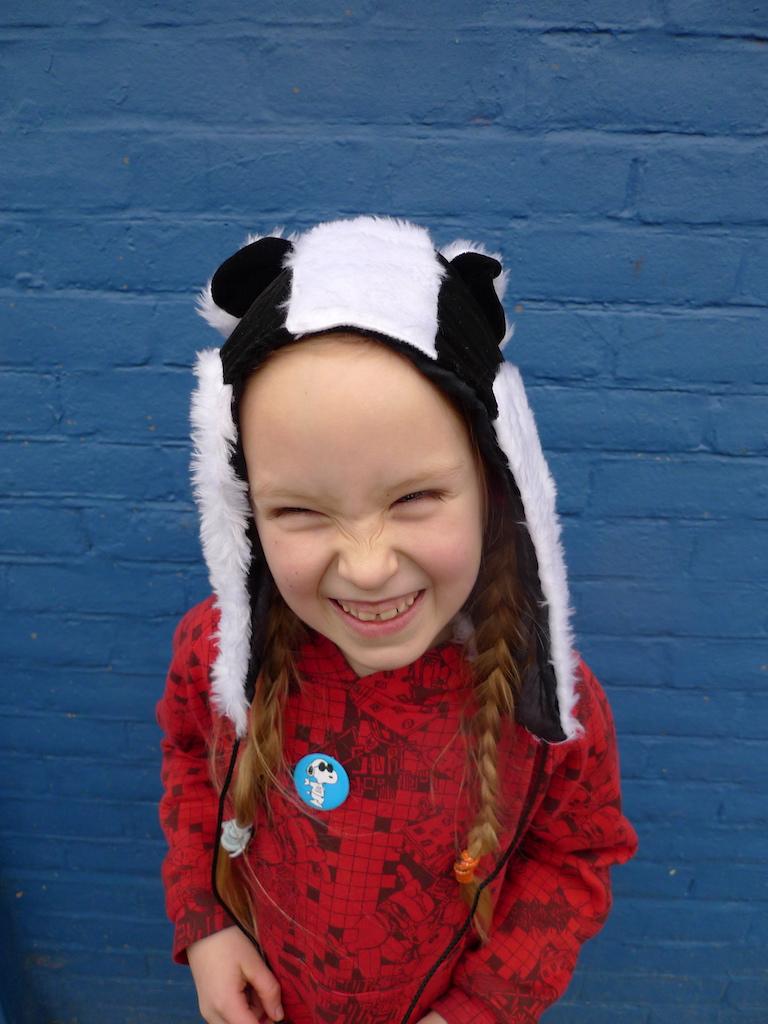 badger hat hood faux fur