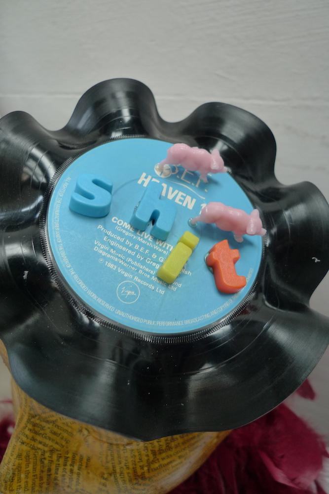 "shit fascinator vinyl record 7"""