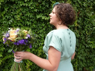 wedding silk dress