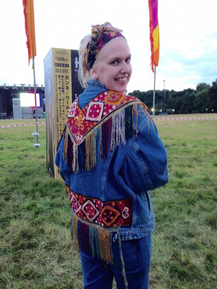 embellished customised denim jacket latitide