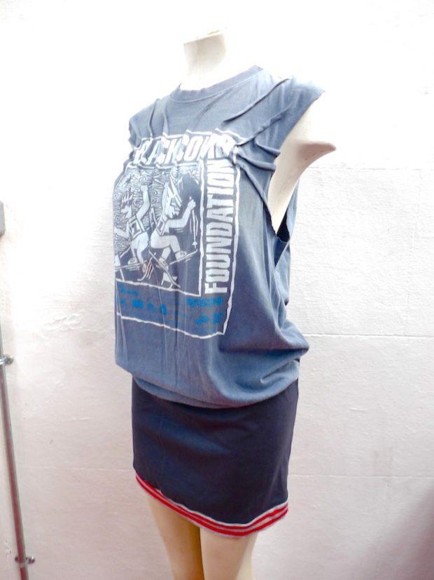 upcycled tee dress top