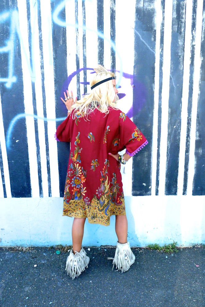 eco sustainable upcycled handmade summer kimono