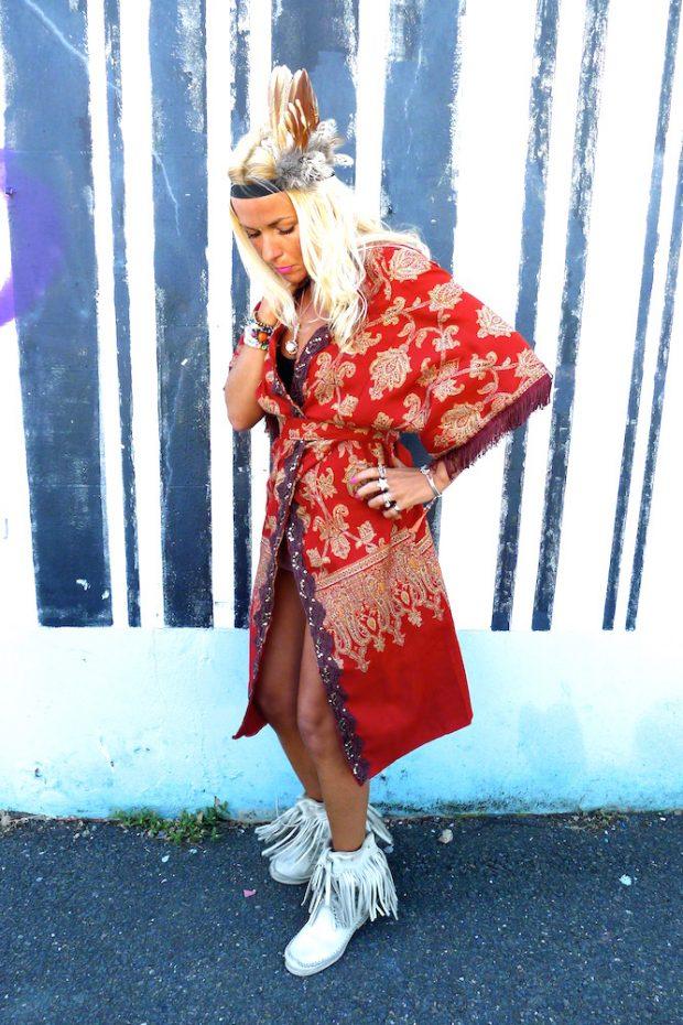 eco sustainable upcycled handmade summer kimono