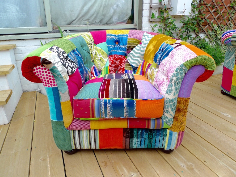Upcycled Patchwork Armchairs Made To Order