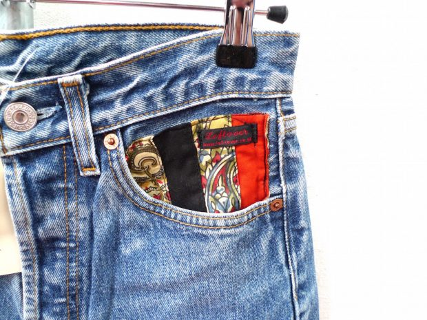 customised denim shorts pocket