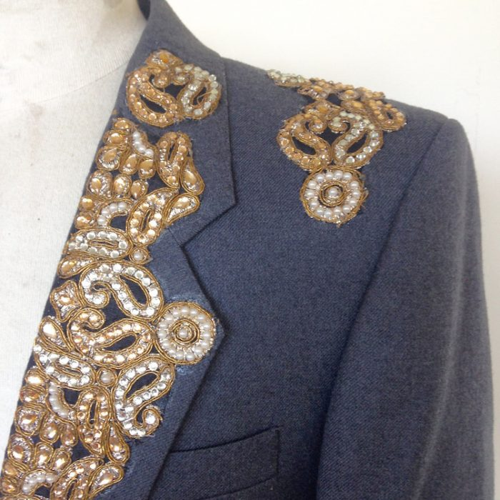 embellished suit jacket