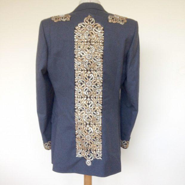 embellished mens suit jacket