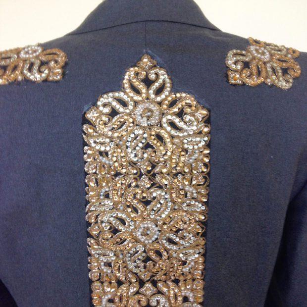 embellished suit jacket back
