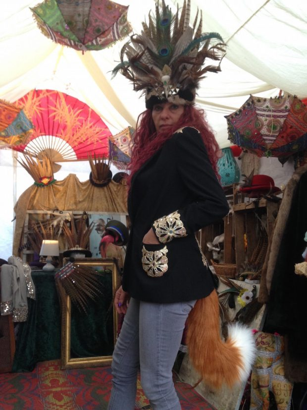 embellished jacket with feathers