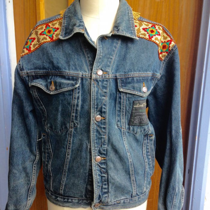denim jacket Karl Marx fringing