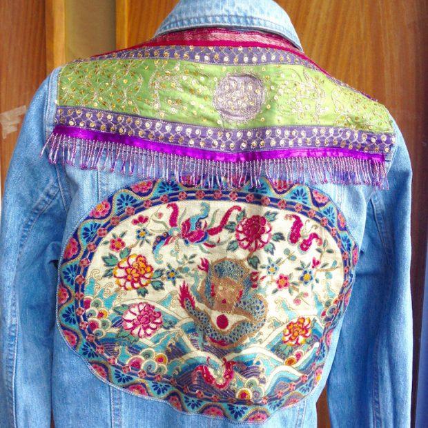 denim jacket indian trim