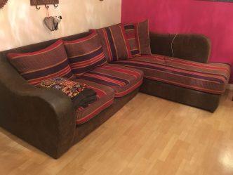 upholstered recovered corner sofa brighton