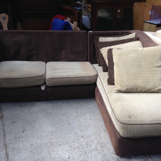 brown corner sofa at Shabitat