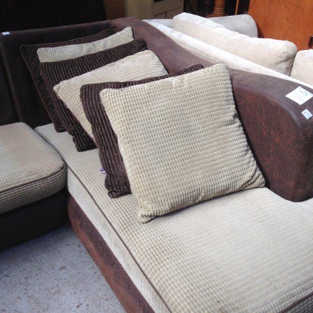 brown corner sofa at Shabitat