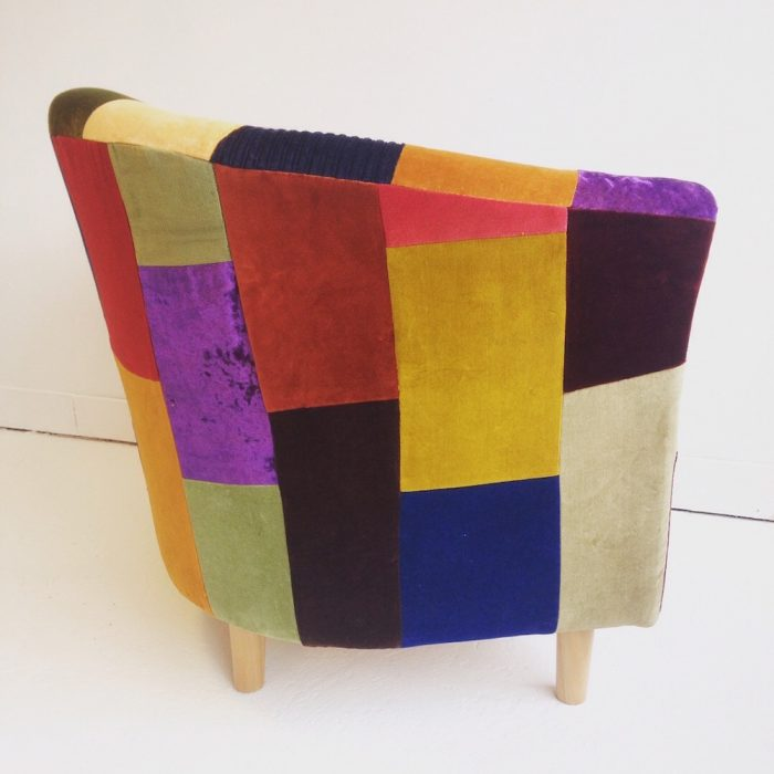 patchwork upholstery armchair brighton