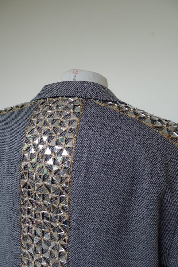 Mirrored suit jacket
