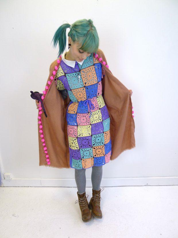 Crochet Patchwork Dress